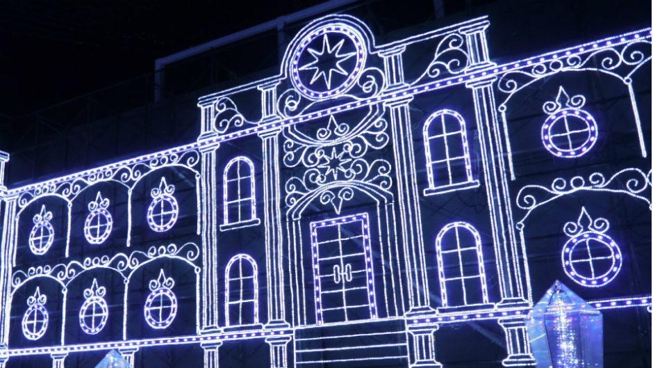 """今年のテーマは""""光の聖堂""""Centrair Sky Illumination(セントレアスカイデッキイルミネーション)"""