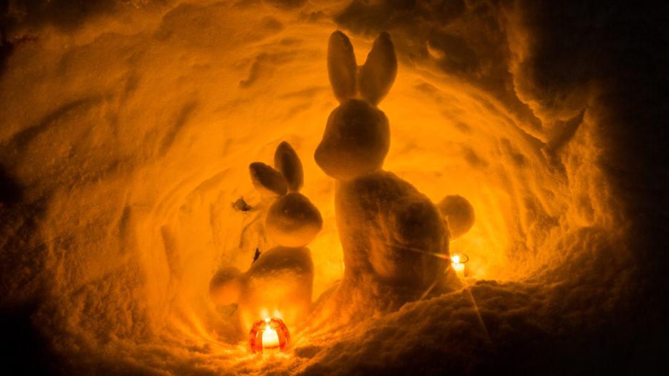 奥飛騨の新穂高温泉で「中尾かまくらまつり」を開催