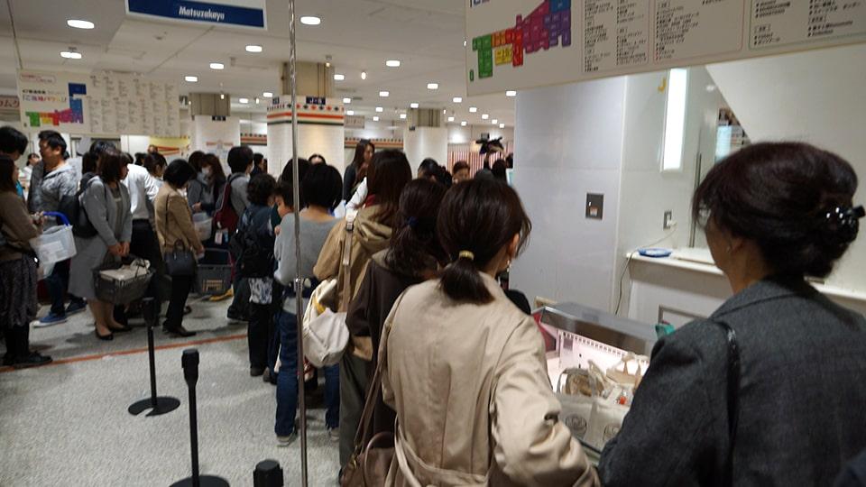 バウムクーヘン博覧会 松坂屋名古屋店 初日の様子