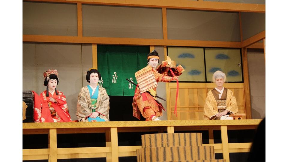 夜がらす山荘 長多喜 × 地歌舞伎衣装体験と特製地歌舞伎御膳