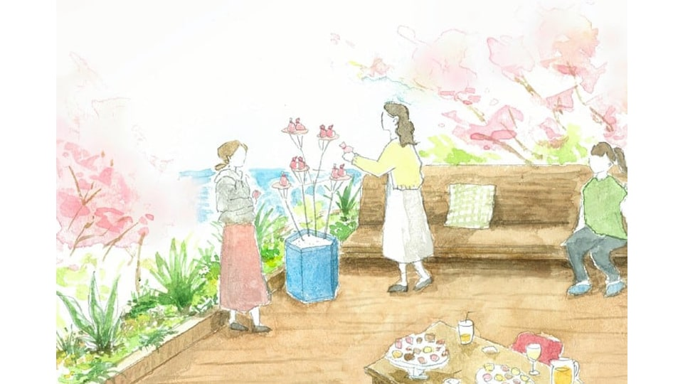 海と桜のプライベートお花見ステイ