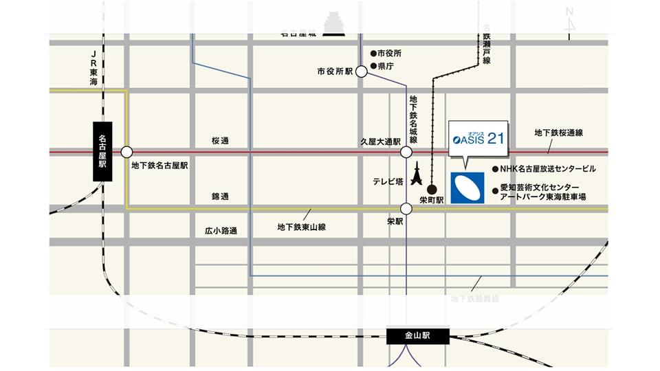 オアシス21 地図