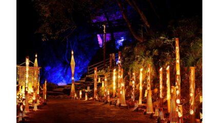 「幽玄の竹あかり」忍者修行の里 赤目四十八滝で開催