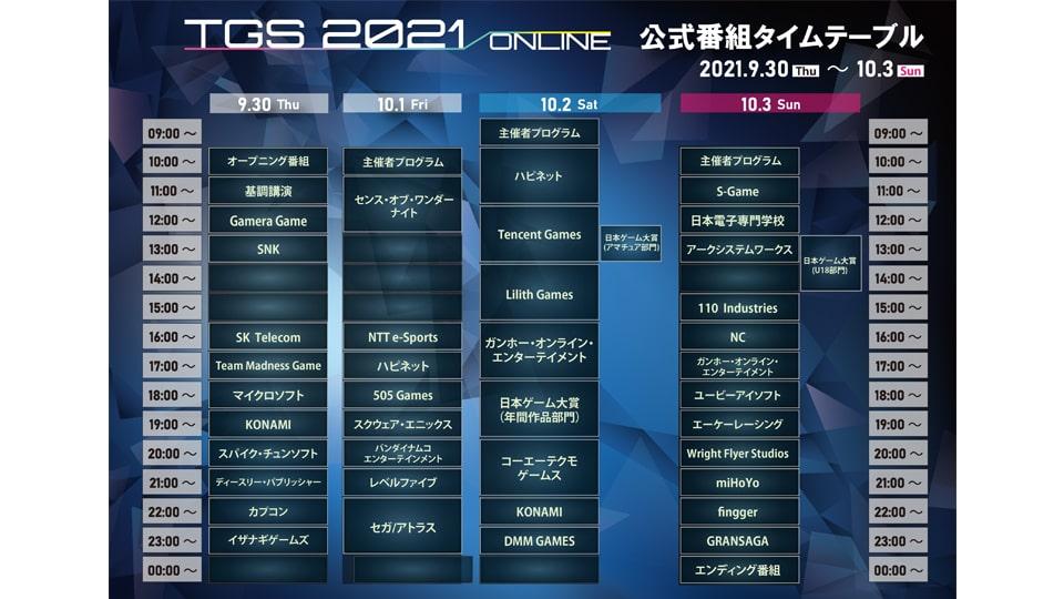 東京ゲームショウ 2021 オンライン